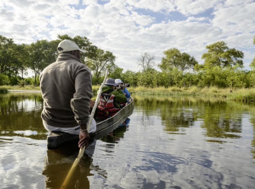 Fotoreise Botswana Kanufahrt