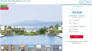 Sheraton Soma Bay Hurghada Angebot